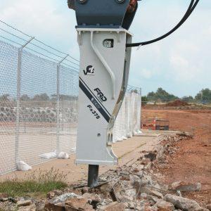 Fx375 Qtv breaking up concrete   Furukawa FRD